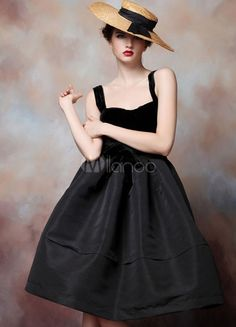 A-line Black Satin Straps Knee-Length Cocktail Dress. Get unbeatable discounts up to 70% Off at Milanoo using Coupon & Promo Codes