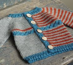 """Yikes Stripes"" Cardigan < NB - 8 yrs, Free pattern / ItLK"