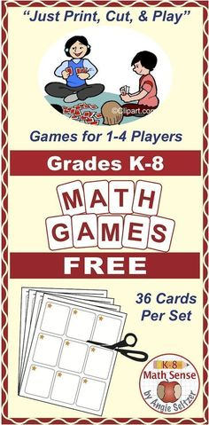 Visit Teachers Pay Teachers to download FREE Multi-Match card sets for key topics in Grades K-8. You will also find seasonal games. If you like the freebies, you'll find dozens more Multi-Match card sets. Use any card set to play four fun, familiar games.