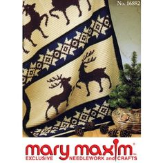 Mary Maxim - Stag Afghan Pattern - Patterns - Patterns & Books
