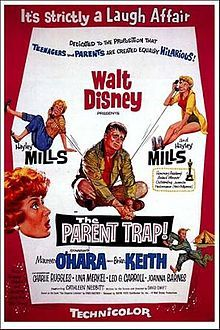 The Parent Trap is a 1961 Walt Disney film.[1][2] It stars Hayley Mills, Maureen O'Hara and Brian Keith in a story about teenage twins and their divorced parents.