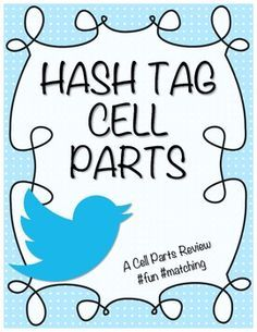 For our Twitter loving generation! A cell parts matching game with a twist! Science Cells, Science Biology, Science Lessons, Science Education, Life Science, Forensic Science, Higher Education, Computer Science, Biology Experiments