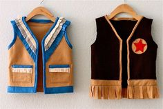 Vest tutorial. Maybe use fleece, instead of felt, for warmth?
