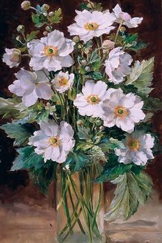 Anne Cotterill was an artist whose outstanding oil paintings of flowers are familiar to many through the reproductions of her paintings on cards and prints. M