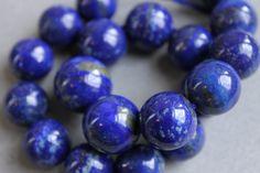 Lapis Lazuli Gemstone Beads by BeadyEyedBird on Etsy, $100.00