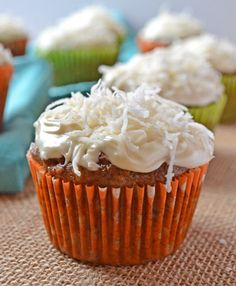 Loaded Carrot Cake Cupcakes with Cream Cheese Frosting | The Law Student's Wife #cupcakes #cupcakeideas #cupcakerecipes #food #yummy #sweet #delicious #cupcake