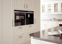 Eildon in frame solid oak Kitchen in Cream – First Impressions Galley Kitchen Design, Kitchen In, Kitchen Cabinets, Kitchen Ideas, Solid Wood Kitchens, Solid Oak, Traditional Kitchens, Decorating, Cream