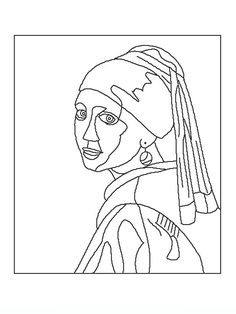 Coloring book pages of famous works