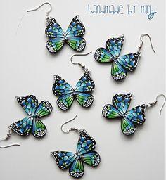 agardimirka / náušnice motýle malé