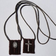 Our Lady of Mt. Carmel Brown Wool Catholic Scapular  by teresa5501