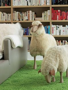 344690-Hans_Peter_Krafft_s_sheep_on_the_library_s_custom_wool_rug_Photograph_by_Eric_Laignel_