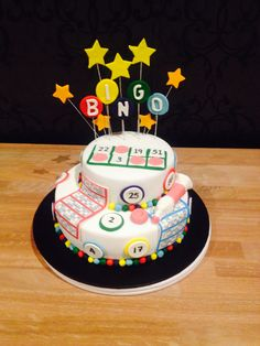2 tiered bingo themed birthday cake cake by t cakes cakes in