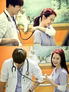 """Emergency Couple: """"Jin-hee, you should find someone who makes your heart thump."""" """"You make my heart thump!""""    (E18-19)"""