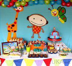 ZUKATE: MESAS DULCES TEMÁTICAS Boy First Birthday, 2nd Birthday Parties, Birthday Party Decorations, Party Themes, Party Ideas, Baby Tv Cumpleaños, Baby Tv Cake, Monster Party, 1st Birthdays