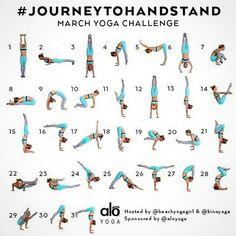 Journey To Handstand {Yoga Challenge}