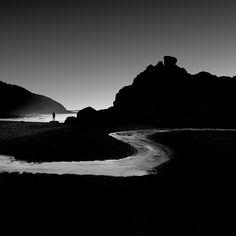 Lone Man - Long Exposure Photography