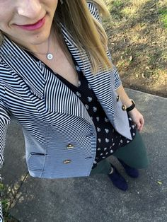 Cabi lifeboat jacket, momento blouse & hirer zip skinnies