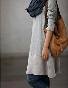 Amazing sweater - lovely length for a tunic, lovely silver-gray color