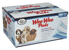 """Four Paws Wee-Wee Pads Standard 22"""" x 23"""", 100 Pack Box - http://www.thepuppy.org/four-paws-wee-wee-pads-standard-22-x-23-100-pack-box/"""