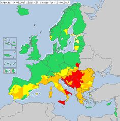 Valid for 05.08.2017 Meteoalarm - severe weather warnings for Europe - Mainpage