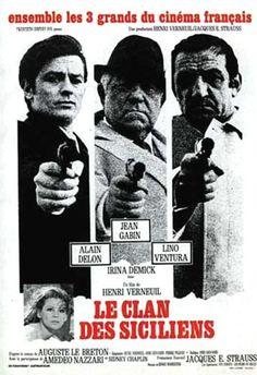 Le clan des siciliens  con Alain Delon, Jean Gabin e Lino Ventura