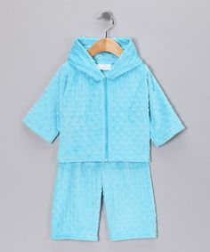 Take a look at this Turquoise Zip-Up Hoodie & Pants - Infant & Toddler by Bebe Bella Designs on #zulily today!