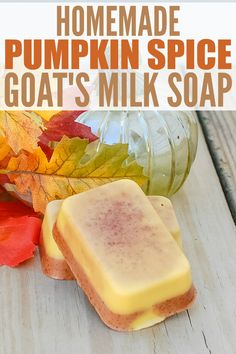 Homemade Pumpkin Spice Goat's Milk Soap - this DIY soap recipe is easy to make and smells just like pumpkin pie with essential oils and spices. It would make a wonderful homemade gift too! soap goat milk Homemade Pumpkin Spice Soap with Goat's Milk Goat Milk Recipes, Diy Beauté, Savon Soap, Homemade Soap Recipes, Soap Making Recipes, Homemade Spices, Homemade Seasonings, Homemade Facials, Goat Milk Soap