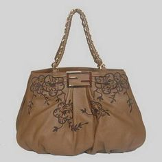 Fendi First Choice for The Season 2293 Brown Dark Brown Flowers