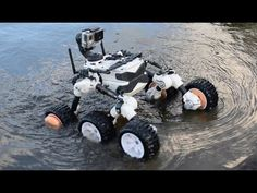 Mars rover made on 3d Printer (WATER TEST) - YouTube