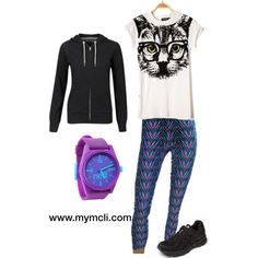 """""""Cassual outfit!!!!"""" Incredible and colorful #leggings.  #leggins #moda #mcli #colombia"""
