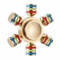 Rainbow Brass Fidget Spinner Finger Spinner Fidget Spinner Stress Gadget Fidget Spinner toy ADHD spinner  Gadget
