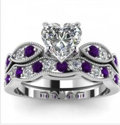 http://www.jeulia.com/heart-cut-created-white-sapphire-with-purple-sidestone-rhodium-plated-925-sterling-silver-women-s-wedding-ring-set-bridal-set.html?utm_source=facebook.com&utm_medium=fcppcq&utm_campaign=722W-1-3 My dream ring