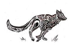 Running wolf tribal_sketch by volatilefortune on deviantart nordic mytholog Dog Quotes, Animal Quotes, 3d Wolf Tattoo, Animal Paintings, Animal Drawings, Wolf Tattoos For Women, Drawing Sketches, Drawing Tips, Drawing Ideas