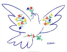 Pablo Picasso Dove Of Peace - Blue Poster Art - Art Poster Print by Pablo Picasso, Animal Art Poster Print by Pablo Picasso, Pablo Picasso, Picasso Art, Picasso Tattoo, Picasso Paintings, Peace Art, Peace Dove, Picasso Dove Of Peace, Picasso Prints, Peace Poster