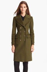 Burberry London Double Breasted Wool & Cashmere Coat