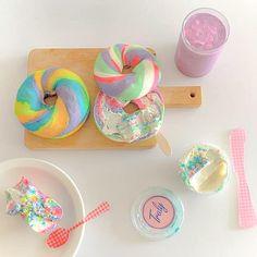 Korean Aesthetic, Aesthetic Food, Japanese Aesthetic, Aesthetic Colors, Aesthetic Pastel, Think Food, Rainbow Aesthetic, No Rain, Cute Desserts