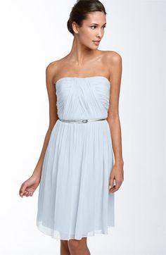 Donna Morgan Belted Chiffon Dress #wedding