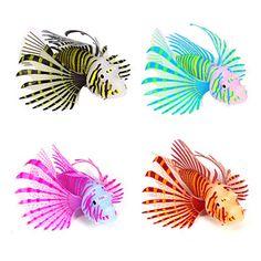 New Artificial Lionfish Vivid Sea Life Glowing Effect Fish Tank Aquarium Decor Tanked Aquariums, Jellyfish Decorations, Aquarium Decorations, Jellyfish Aquarium, Aquarium Fish Tank, Antigua Und Barbuda, Fish Tank Cleaning, Trinidad Und Tobago, Pets