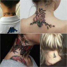 neck tattoo - neck tattoo for women - neck tattoo ideas neck tattoos Best Neck Tattoo Designs - Creative Neck Tattoo Ideas - Gallery Back Of Neck Tattoos For Women, Simple Neck Tattoos, Tribal Neck Tattoos, Best Neck Tattoos, Neck Tattoos Women, Girl Neck Tattoos, Neck Tattoo For Guys, Dragon Sleeve Tattoos, Tattoos For Guys