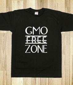 GMO free zone SS black #skreened #gmo #tees