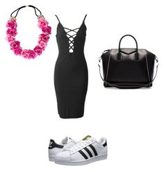 """""""i love this look ! """" by terlizzlle on Polyvore featuring adidas Originals and Givenchy"""