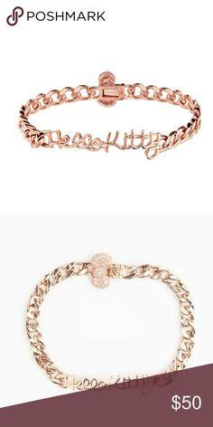 Rare Collab Noir x Hello Kitty Rose Gold Bracelet 18k Rose Gold clasp bracelet. Rare Noir x Hello Kitty. Hello Kitty Jewelry Bracelets