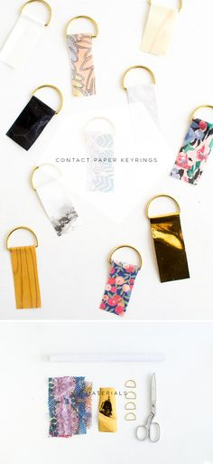 Fall For DIY | Contact Paper Keyrings materials