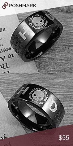 Harley Davidson Black Stainless Ring Black Stainless Harley Davidson ring. My husband has one and loves it! Perfect birthday, fathers day or just because gift for that Harley lover. Harley-Davidson Accessories Jewelry