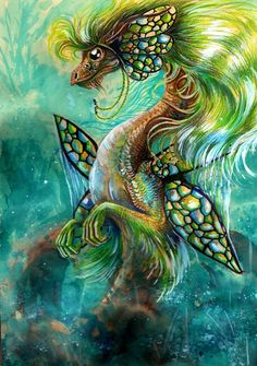 creaturesfromdreams:  Fairy Dragon by ~Esmerra —-x—- More: | Dragons | Random |