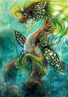 Fairy Dragon by ~Esmerra Dragon 2, Fantasy Dragon, Fantasy Art, Dragon Pics, Dragon Tales, Dragon Artwork, Green Dragon, Baby Dragon, Magical Creatures