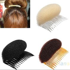 1pc Hair Styler Volume Bouffant Beehive Shaper Roller Bumpits Bump Foam On Clear Comb Xmas Accessories