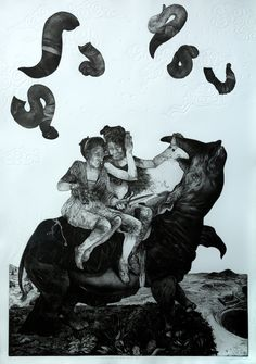 Diane Victor (South Africa), The Rhinoceros Who Looked at the Sky, Intaglio, 2013 Guanlan International Print Biennial Art Through The Ages, Linoprint, South African Artists, Look At The Sky, Abstract Oil, Artist Art, New Art, Printmaking, Contemporary Art