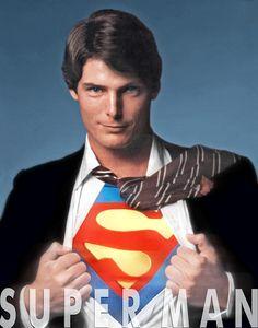 Christopher Reeve as Superman/Clark Kent Original Superman, Superman Love, Superman Man Of Steel, Superman Photos, Superman Artwork, Superman Family, Batman, Christopher Reeve Superman, Action Comics 1