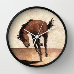 """Cheval / Horse"" Wall Clock by Savousepate - $30.00 #wallclock #clock #horse"